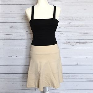 NWOT BCBG MAXAZRIA Black/Beige Bodycon Dress 0